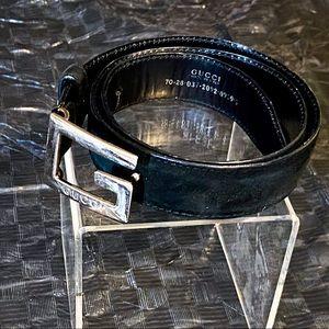 Gucci Tom Ford Era Suede Cube G Belt 26 28 70